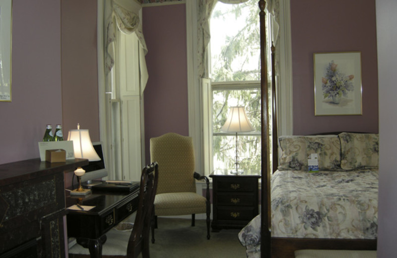 Guest room at Joshua Wilton House.