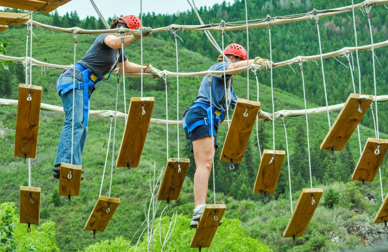 Ropes course at Glenwood Canyon Resort.