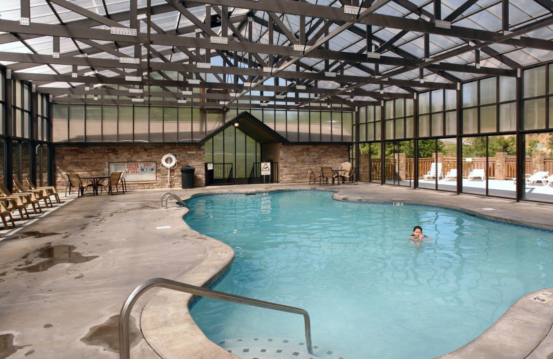 Indoor pool at Aunt Bug's Cabin Rentals, LLC.