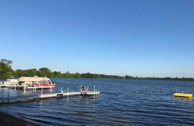 Lake view at Barrett Lake Resort.