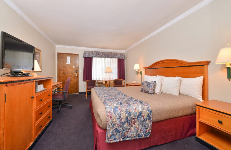 Guest room at Tarzana Inn.