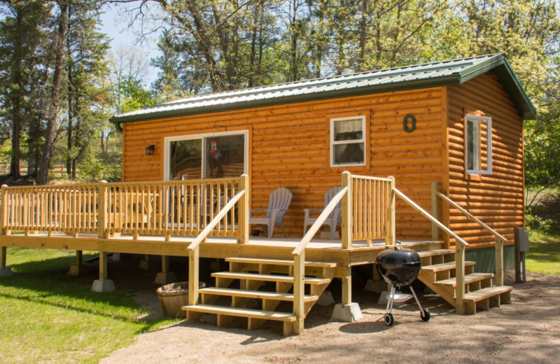 Cabin exterior at Bear Paw Resort.