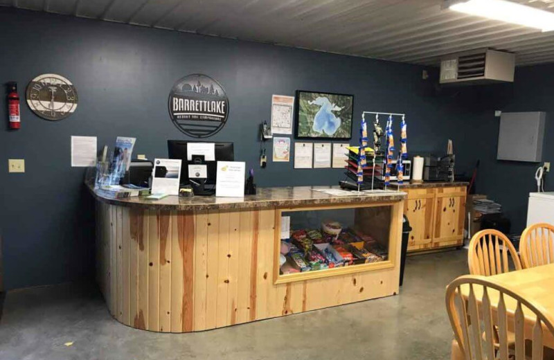 Shop at Barrett Lake Resort.