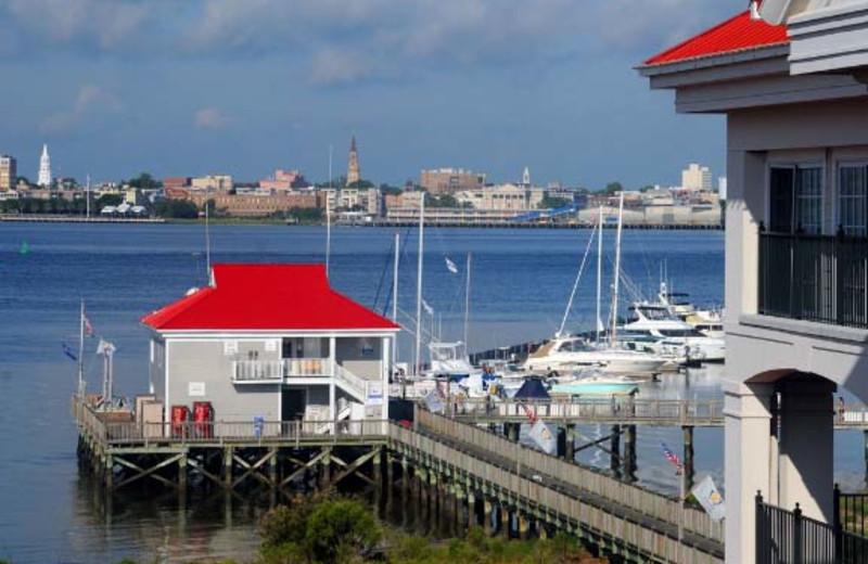 Balcony View at  Charleston Harbor Resort