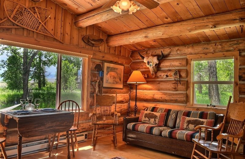 Rental living room at Cody Lodging Co.