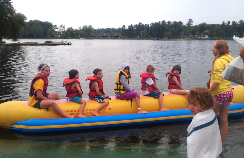 Banana boat at Bayview Wildwood Resort.