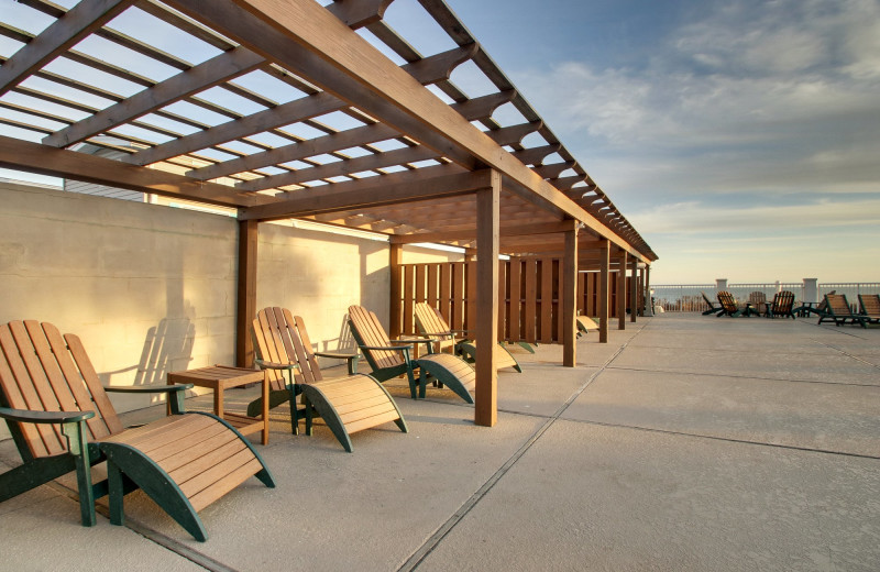 Beach chairs at Islander Hotel & Resort.