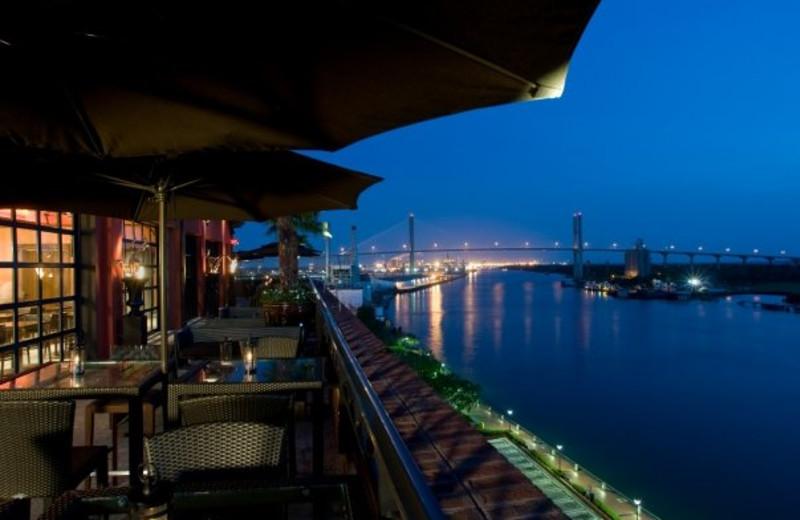 Balcony view at Bohemian Hotel Savannah Riverfront.