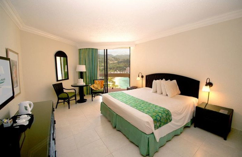 Guest room at Sunset Jamaica Grande Resort.
