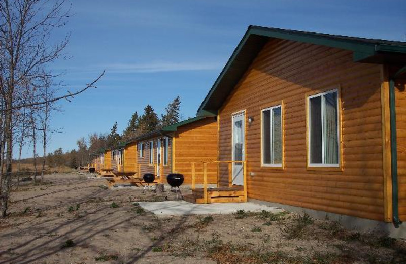 Cabins at West Wind Resort on Upper Red Lake.