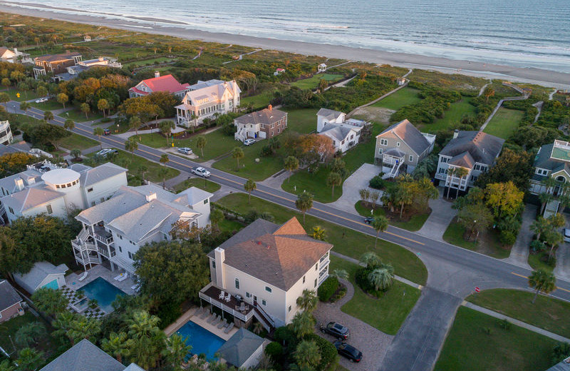 Aerial view of Exclusive Properties - Isle of Palms.