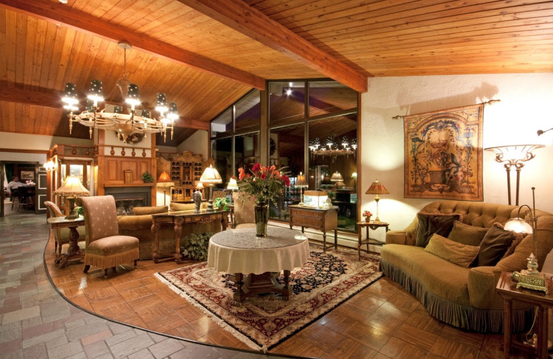 Lobby area at Crescent Lodge.