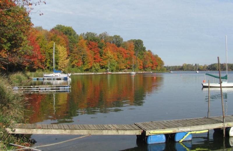 Lake near Idlewyld Inn.