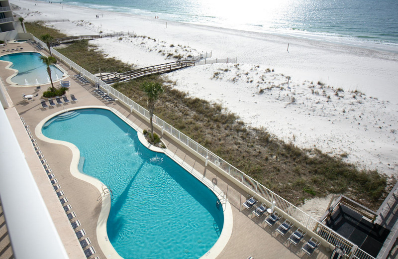 Rental pool at Paradise Gulf Properties.