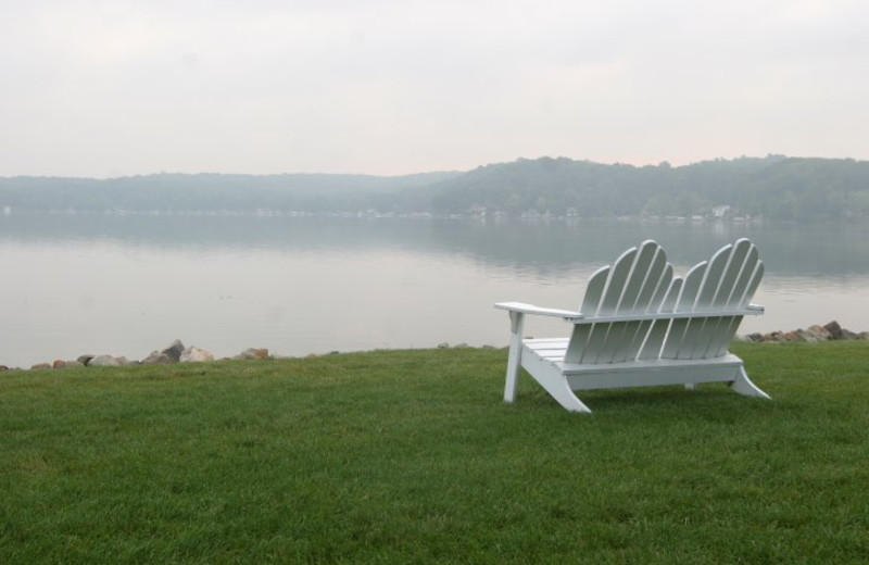 Relax by the lake at Bay Pointe Inn.