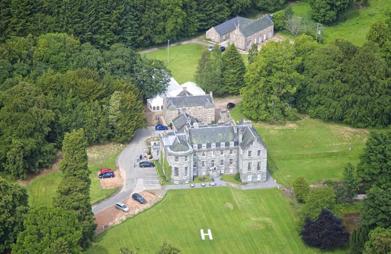 Aerial view of Raemoir House.