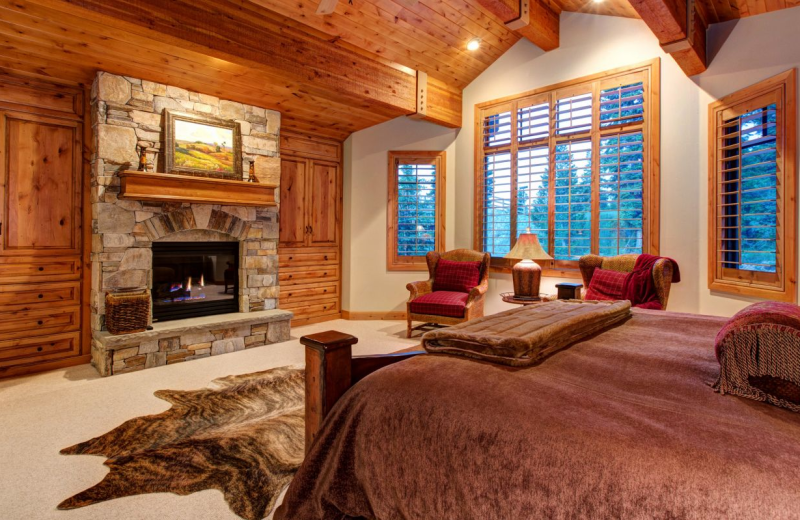 Vacation Rental Bedroom At SkyRun Rentals