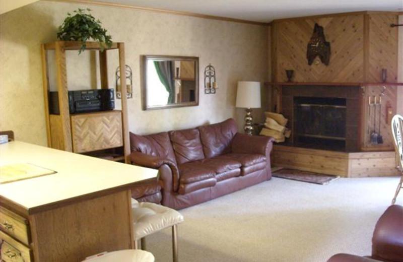 Living room at Lori's Luxury Rentals.