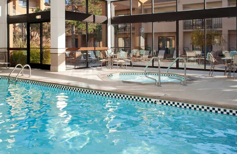 Indoor pool at Courtyard by Marriott Detroit Warren.