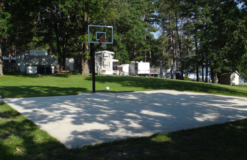 Basketball court at Moonlight Bay Resort.