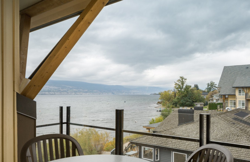 Balcony view at Summerland Waterfront Resort.