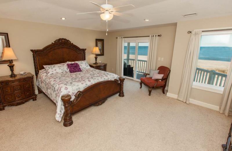 Rental bedroom at Sandbridge Realty.