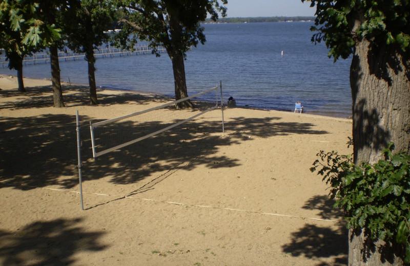Beach at Parkside Cottages.