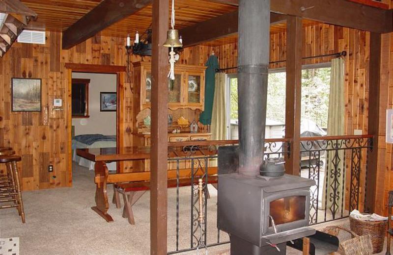 Rental interior at Twain Harte Vacation Rentals.