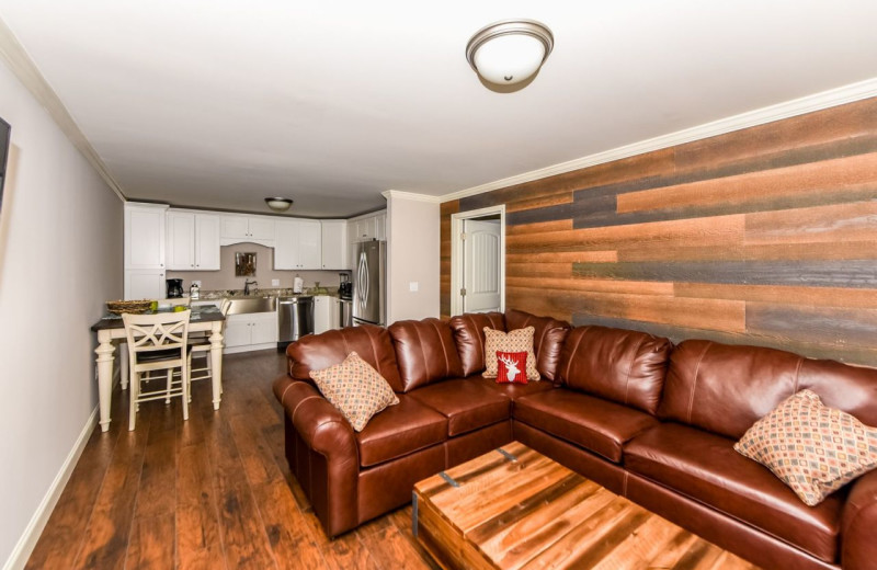 Rental interior at Dogwood Cabins LLC.