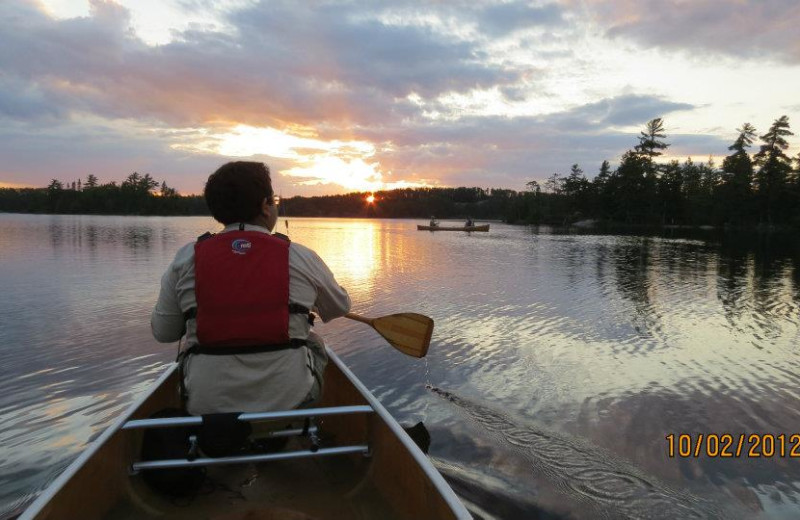 Canoeing at Moose Track Adventures Resort.