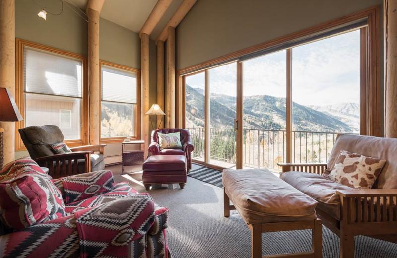 Rental living room at Canyon Services Vacation Rentals.