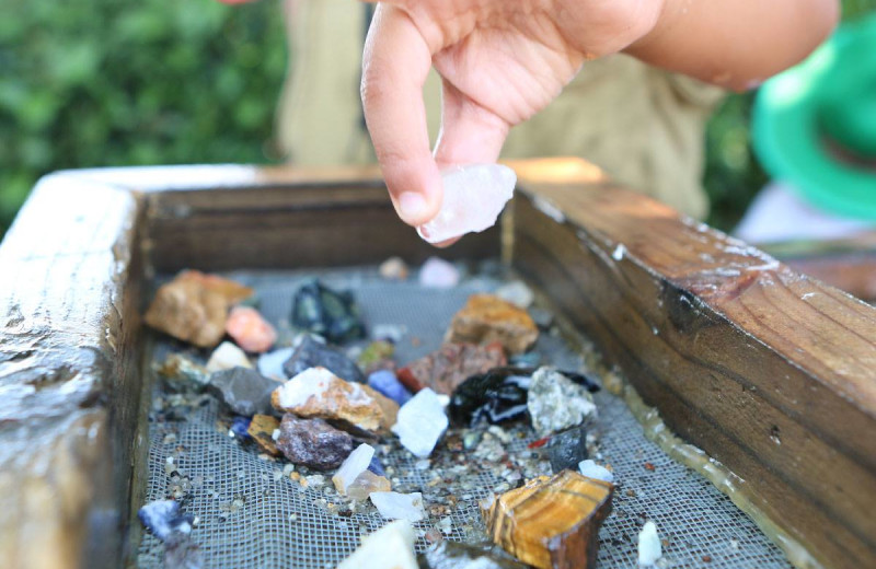 Gem mining at Mi-Te-Jo Campground.