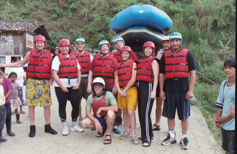 Rafting at Hacienda Primavera Wilderness Ecolodge.