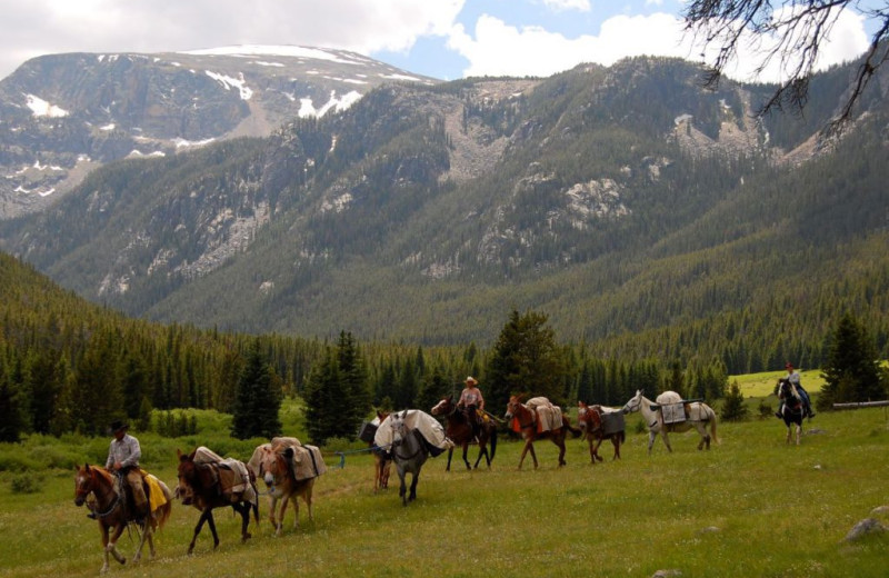 Horseback riding at Rock Creek Resort.