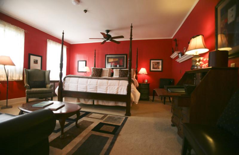 Guest room at Waybury Inn.