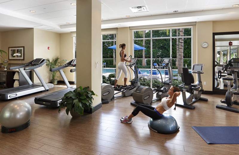 Fitness room  at The Seagate Hotel & Spa.