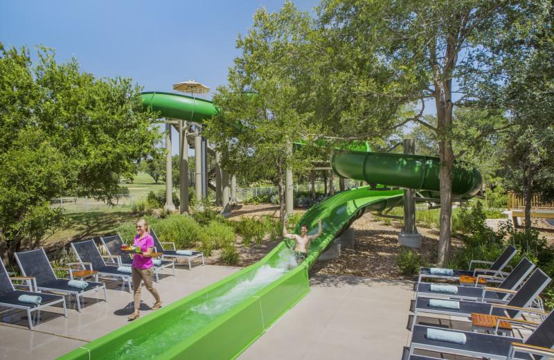 Water slide at Hyatt Regency Hill Country Resort and Spa.