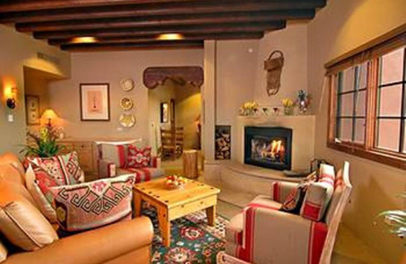 Relax by the fireplace at Hotel Santa Fe