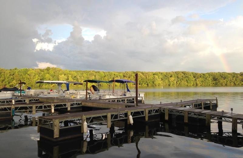Lake at Mansard Island Resort & Marina.