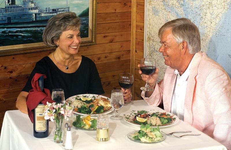 Couple dining at Smithfield Station.