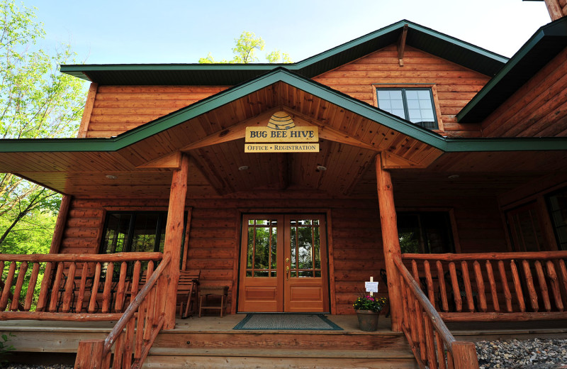 Lodge entrance at Bug-Bee Hive Resort.