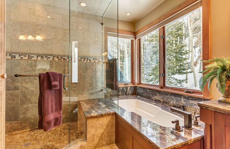 Rental bathroom at Canyon Services Vacation Rentals.