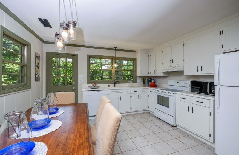 Rental kitchen at StayLakeNorman Luxury Vacation Rentals.
