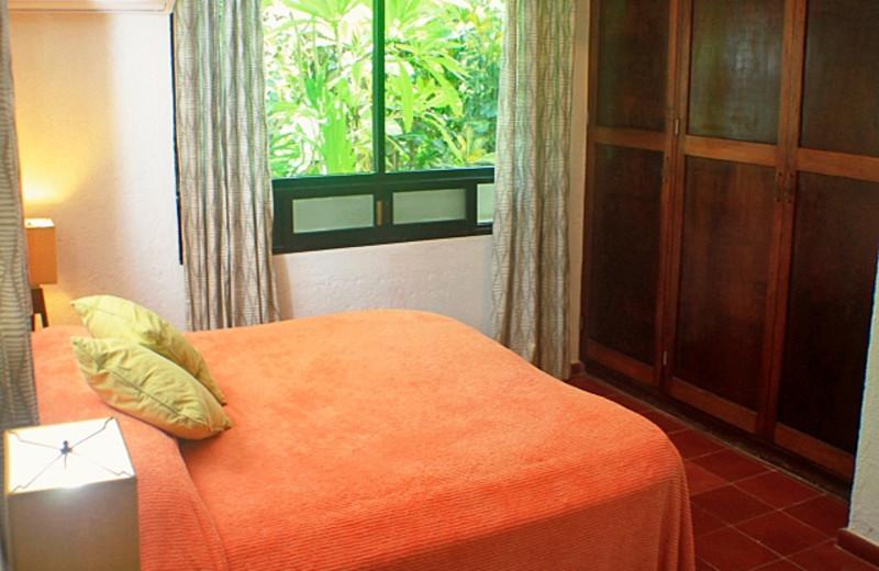 Rental bedroom at Casa Zama II.