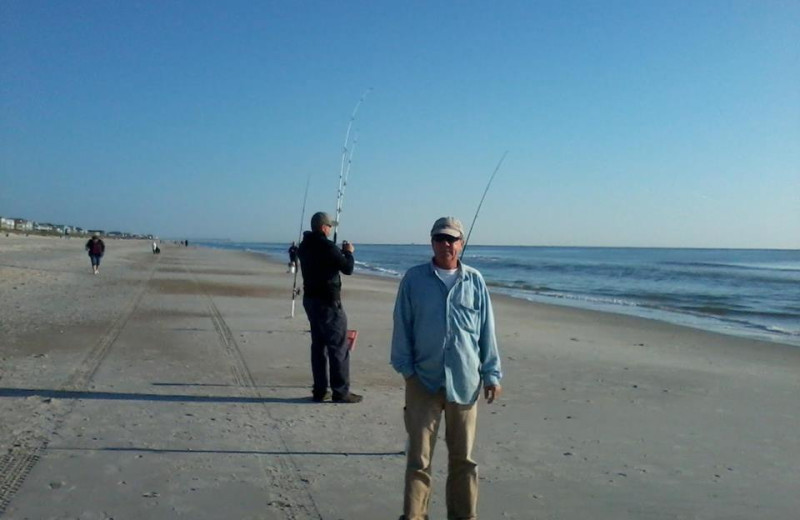Fishing at Surfside Lodge Oceanfront.