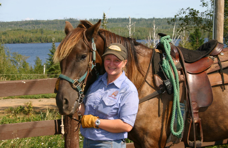 Horseback riding at Gunflint Lodge.
