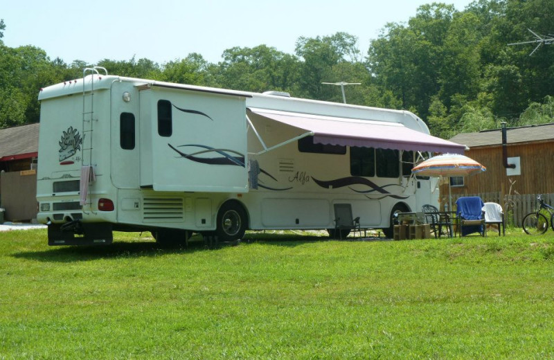 RV  campground at Mountain Rest Cabins and Campground.