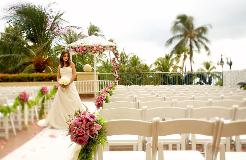 Outdoor wedding at Hyatt Regency Waikiki Resort & Spa.