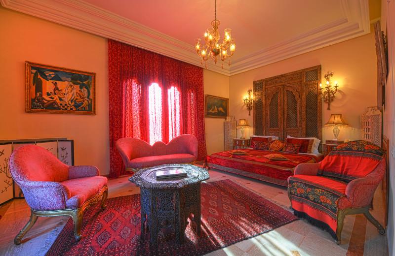 Guest suite at Palais Mehdi.