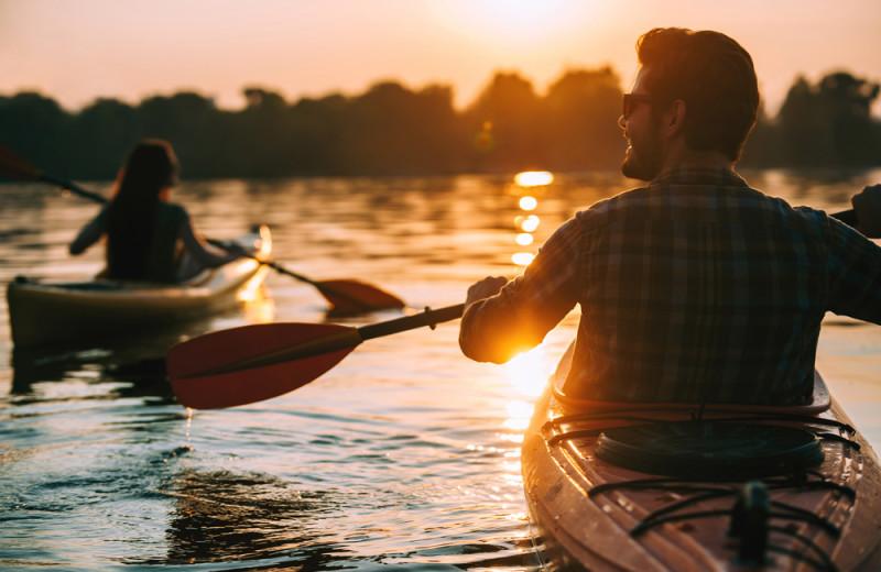 Kayaking at Hiller Vacation Homes.
